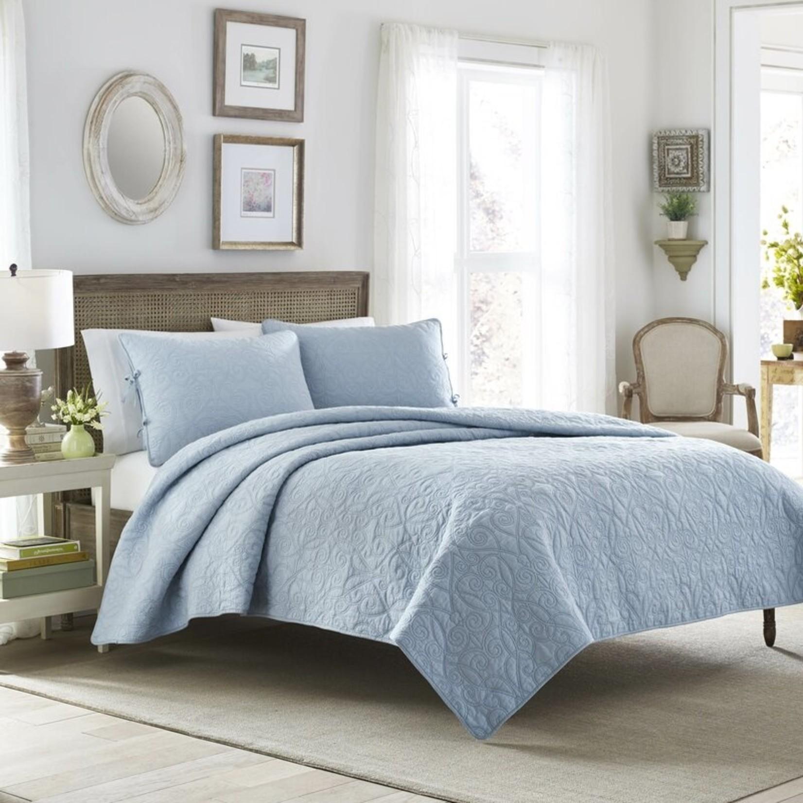 *Full/Queen - Felicity Reversible Quilt Set - Breeze Blue - Final Sale