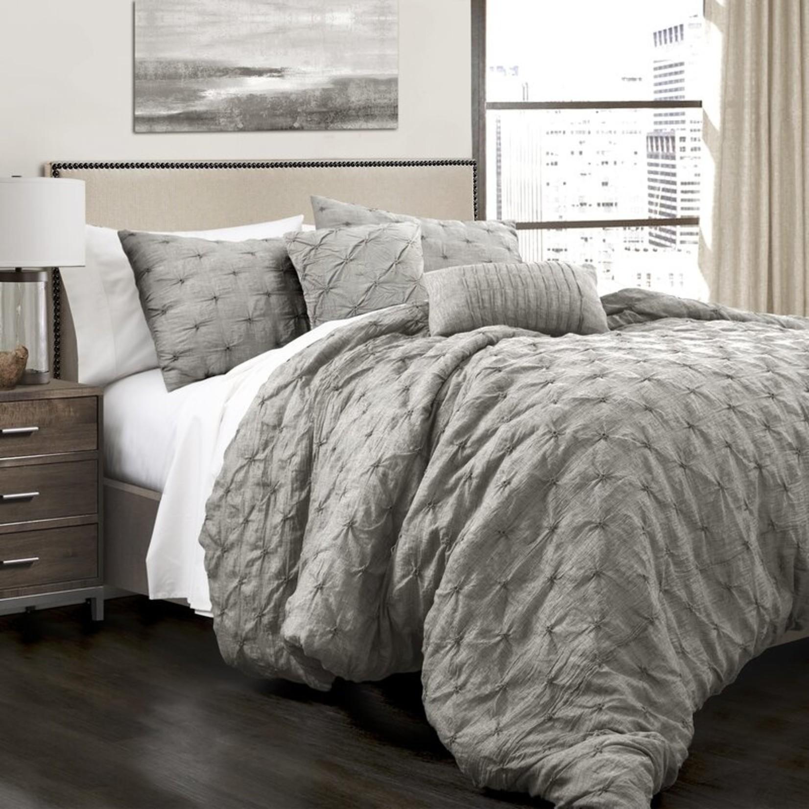 *King - Ishee Comforter Set - Grey - Final Sale