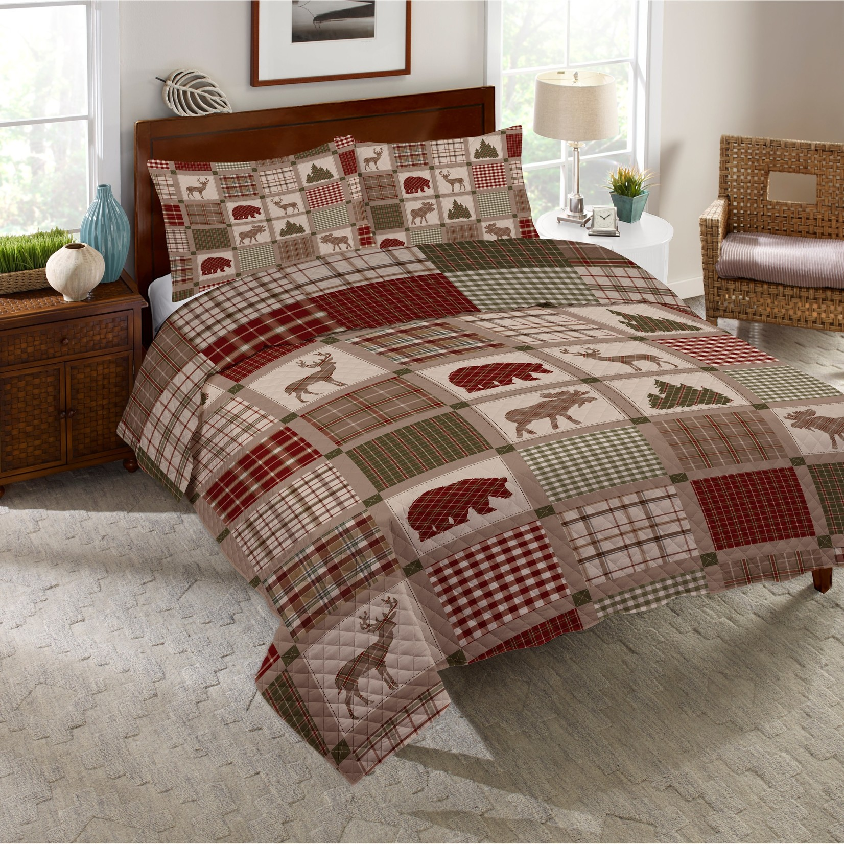 *Full/Queen - Woodland Patch Quilt Set - Final Sale