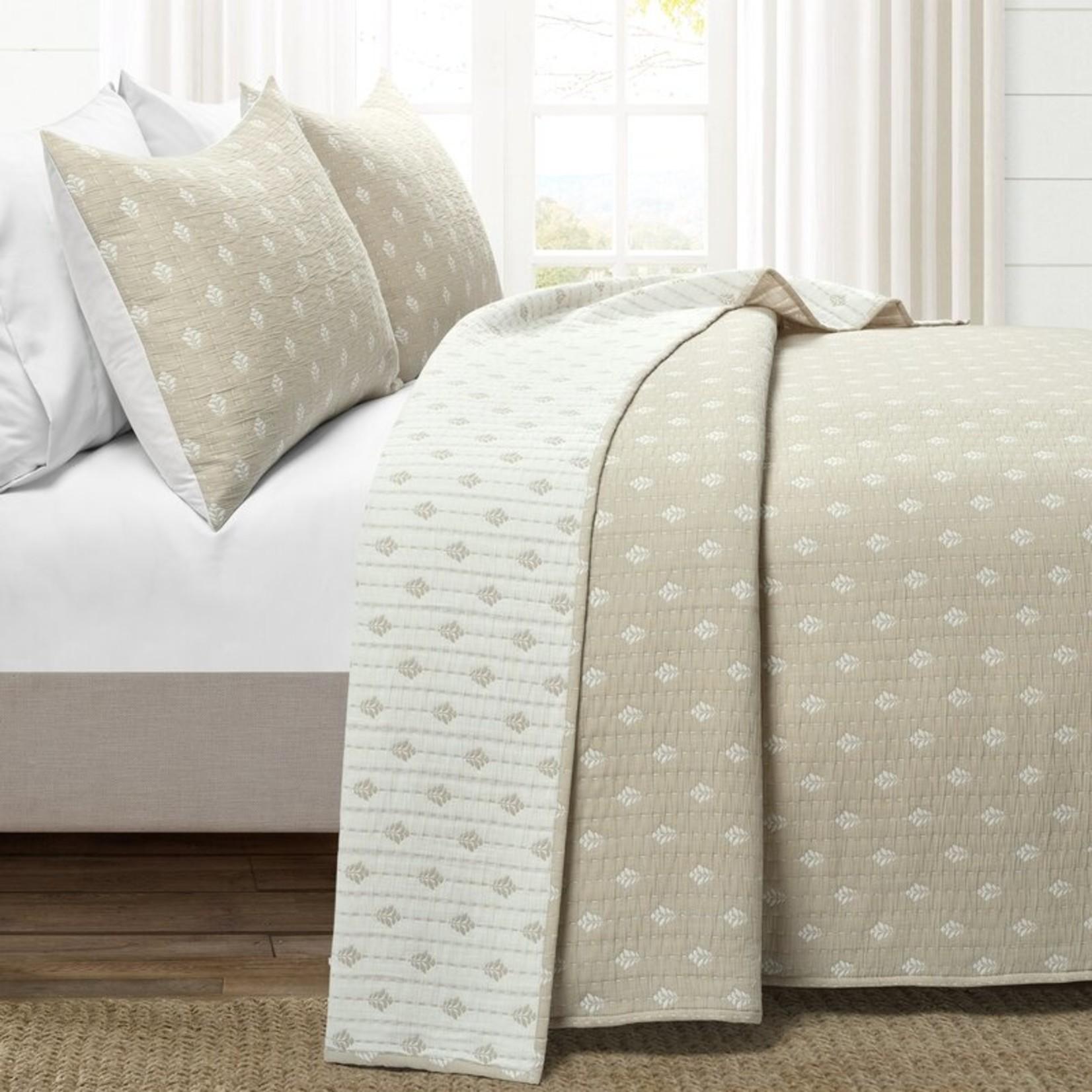 *King - Griswalda Reversible Quilt Set - Neutral/Off-White - Final Sale