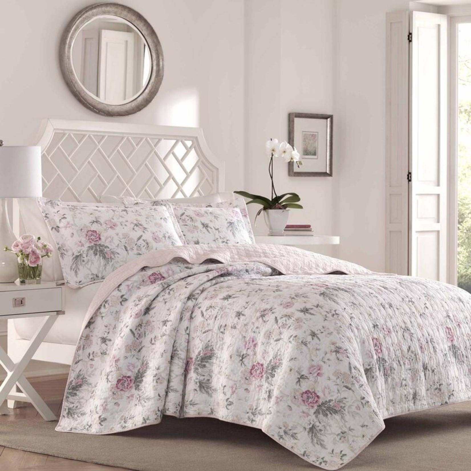 *Twin - Breezy Reversible Floral 100% Cotton 2 Piece Quilt Set - Final Sale