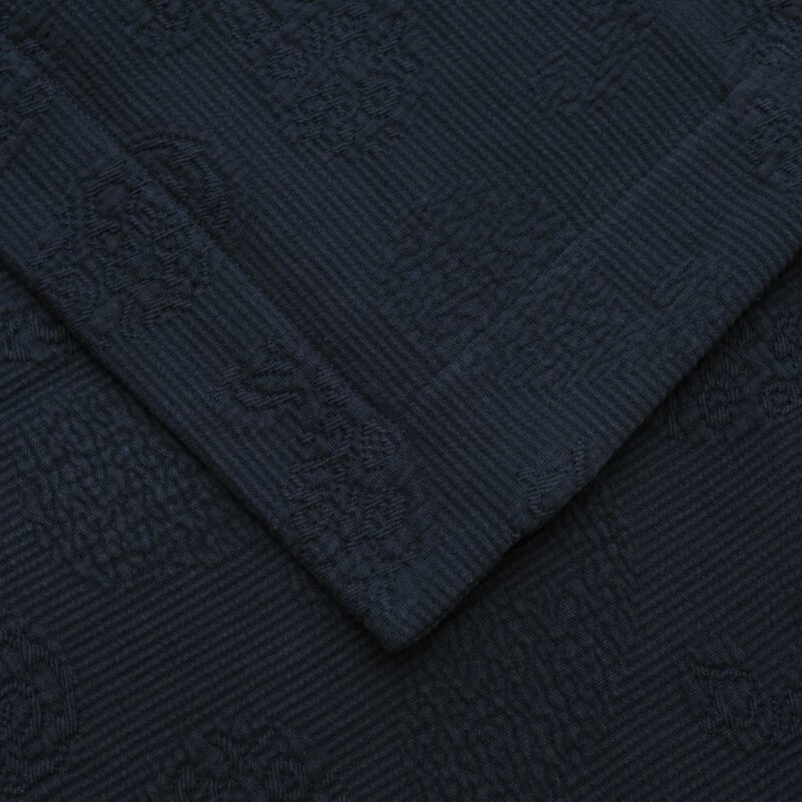 *King - Benito Oversized Coverlet Set - Navy - Final Sale