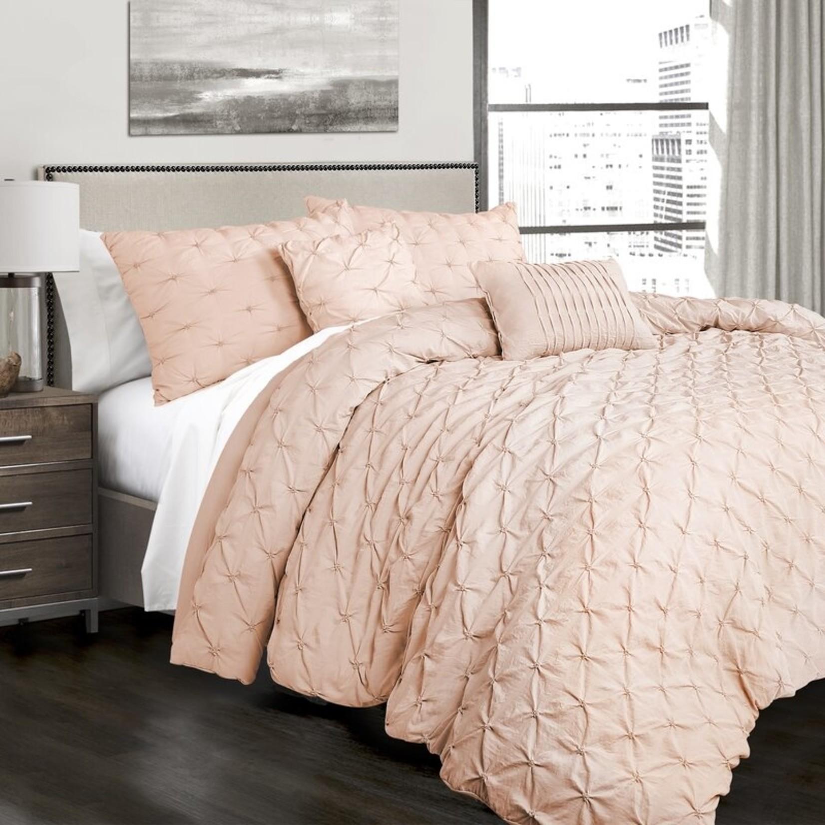 *Full/Queen - Ishee Comforter Set - Blush - Final Sale
