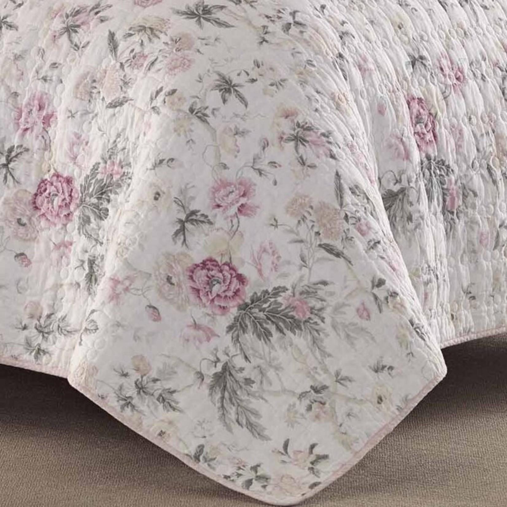 *King - Breezy Reversible Floral 100% Cotton 2 Piece Quilt Set - Final Sale