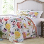 *Full/Queen - Bellario Reversible Floral 100% Cotton 3 Piece Set - Final Sale