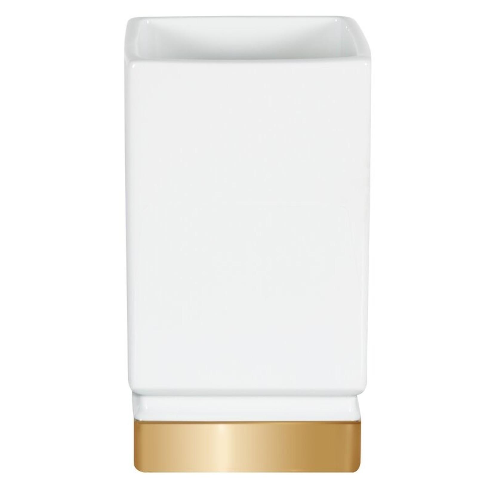 *Osullivan Roma Ceramic Tumbler - White/Gold