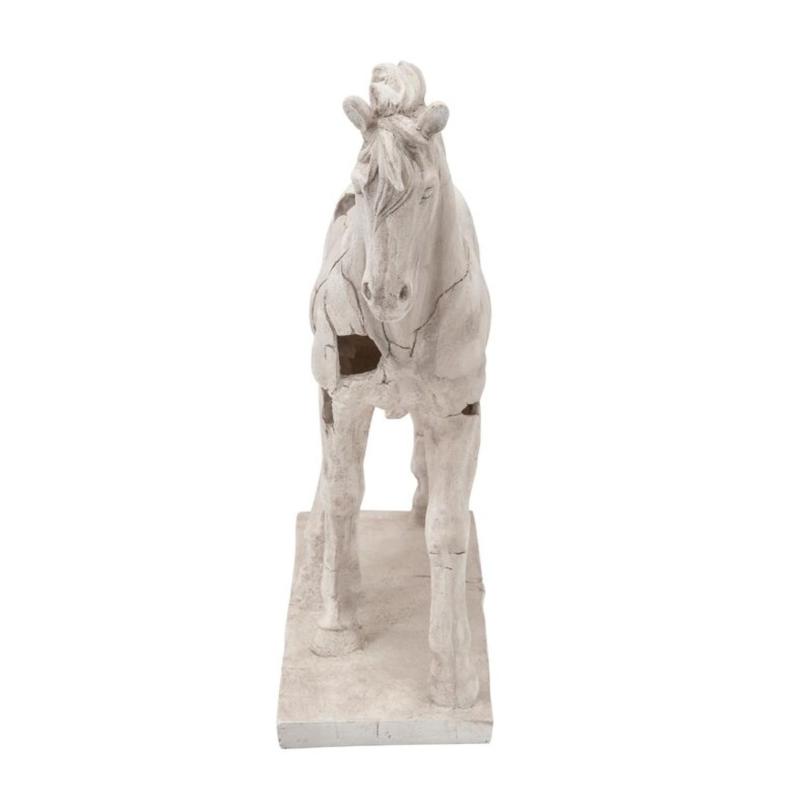 *Cracked Horse Sculpture - White