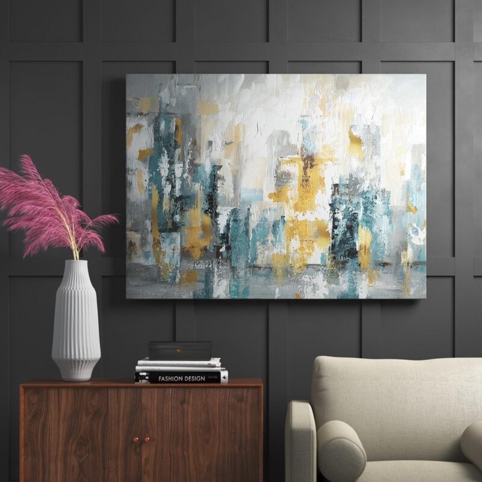 "*'City Views II' - Painting Print on Canvas - 8"" x 12"""
