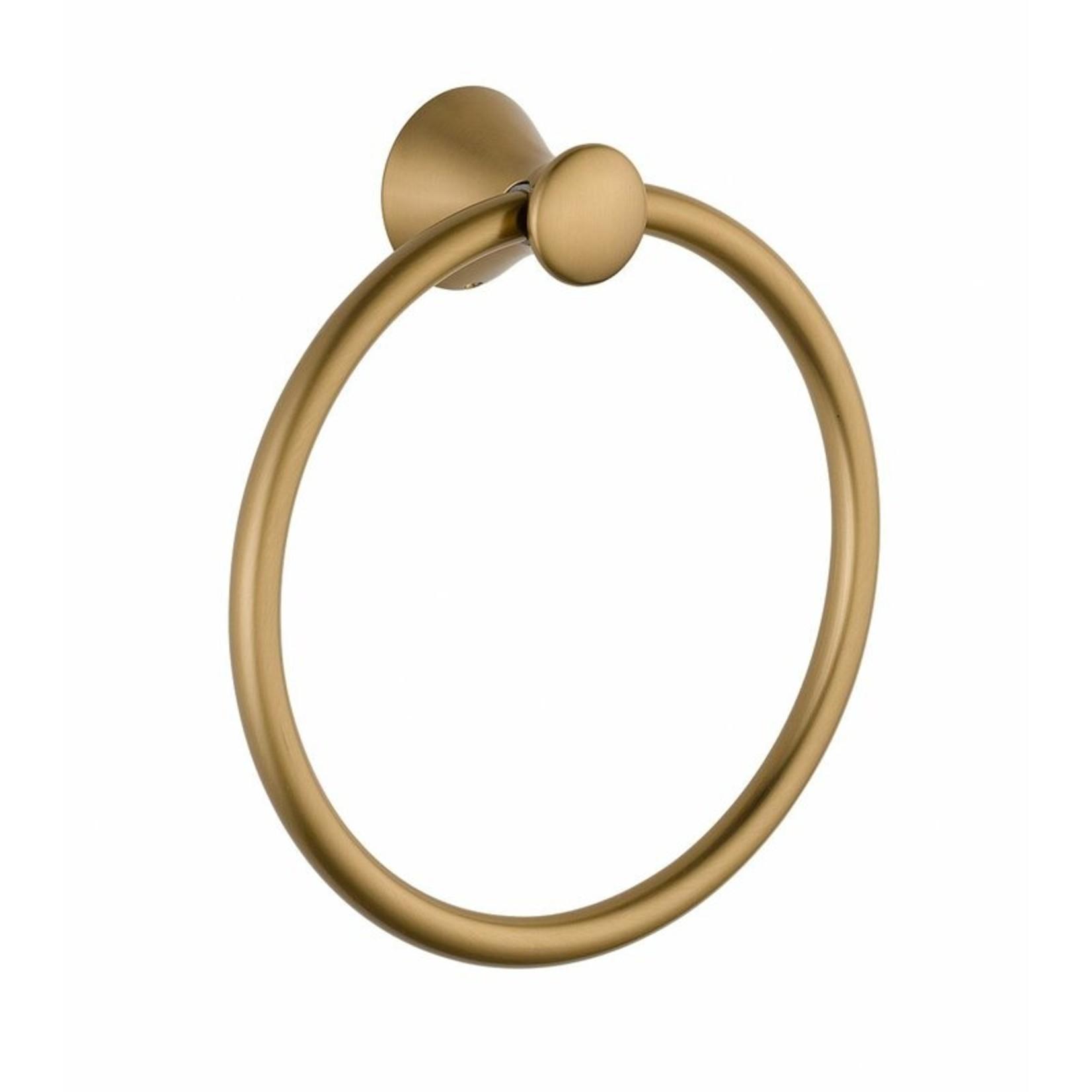 *Lahara Wall Mounted Towel Ring - Champagne Bronze Finish