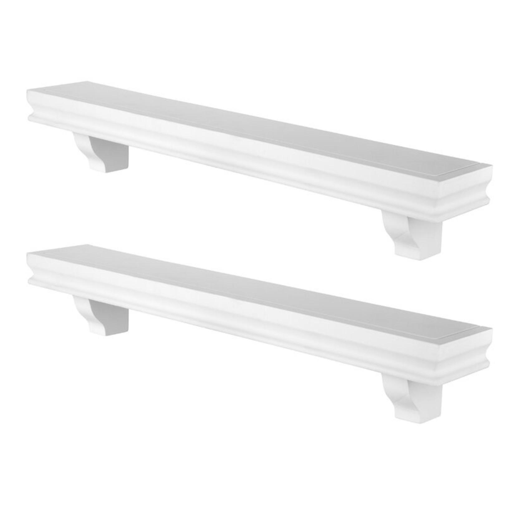 *Dov Decorative 2 Piece Accent Shelf - White