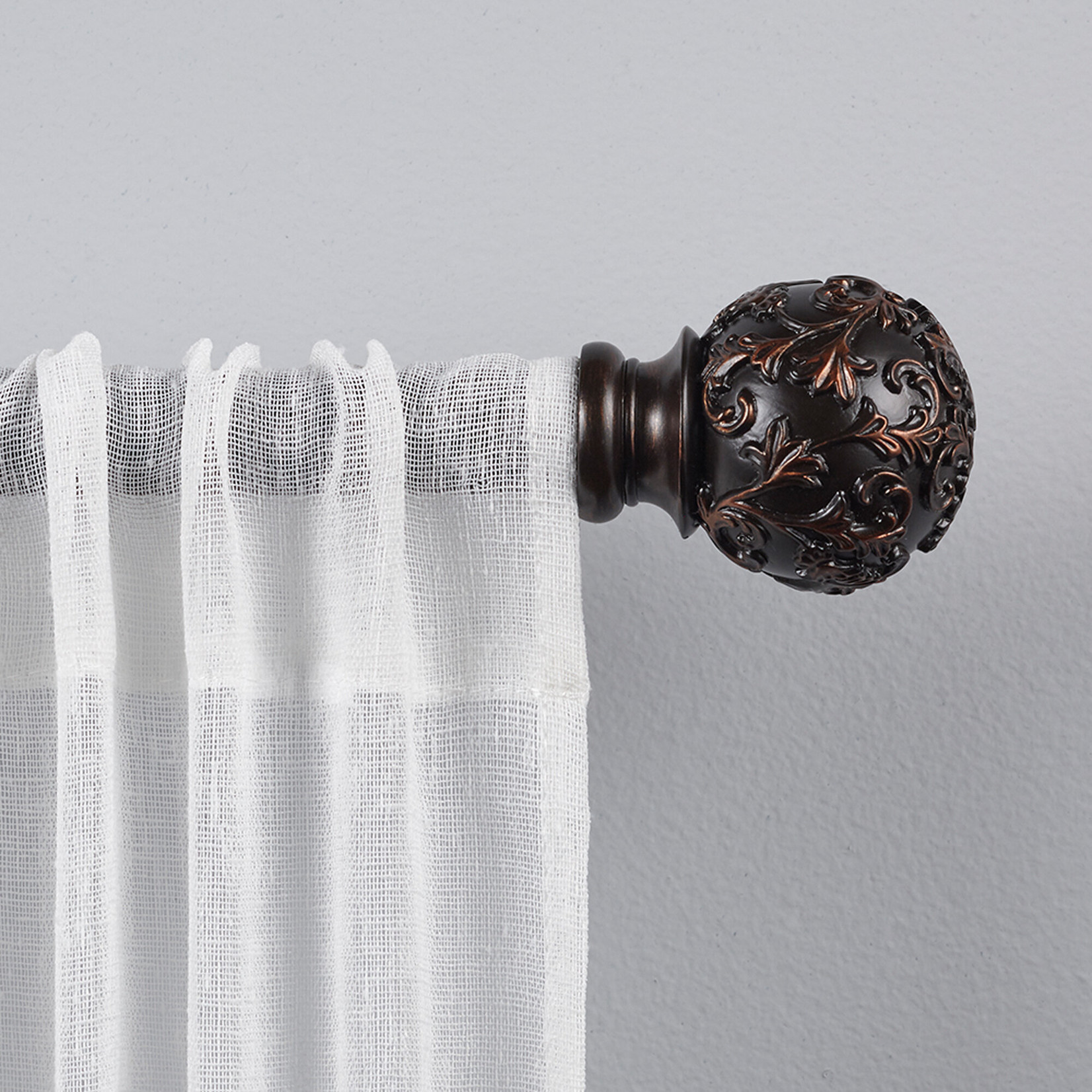 """*36"""" - 72"""" Barnhardt Vine Single Curtain Rod - Final Sale"""