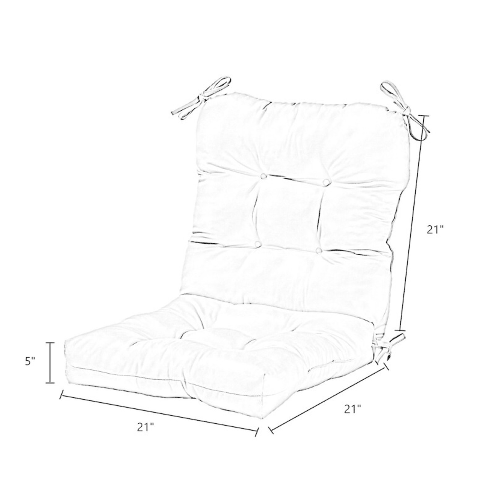 *Sarver Indoor/Outdoor Seat/Back Cushion - Stone - Set of 2 (Final Sale)