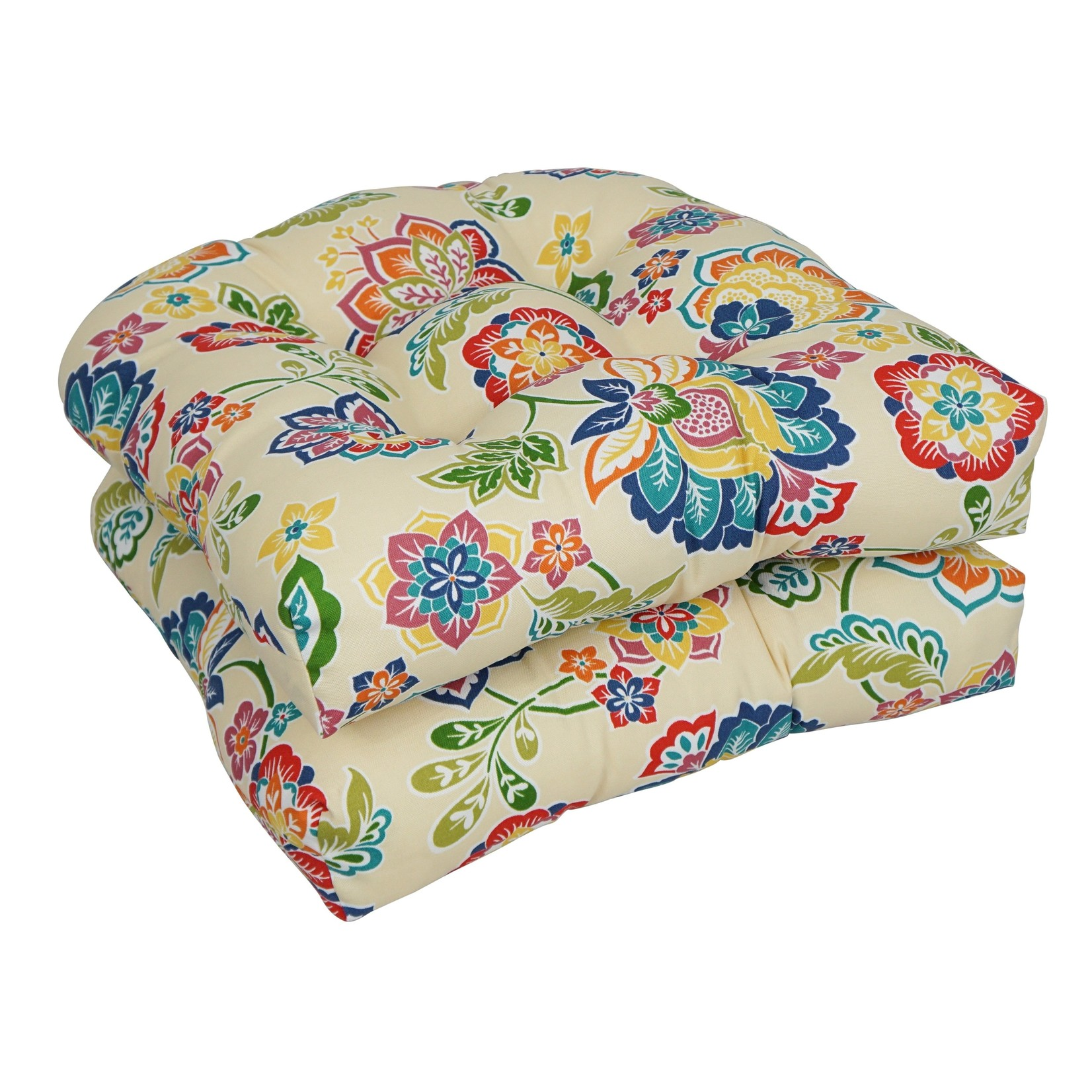 *Tufted Dining Chair Indoor/Outdoor Seat Cushion - Only includes one seat cushion