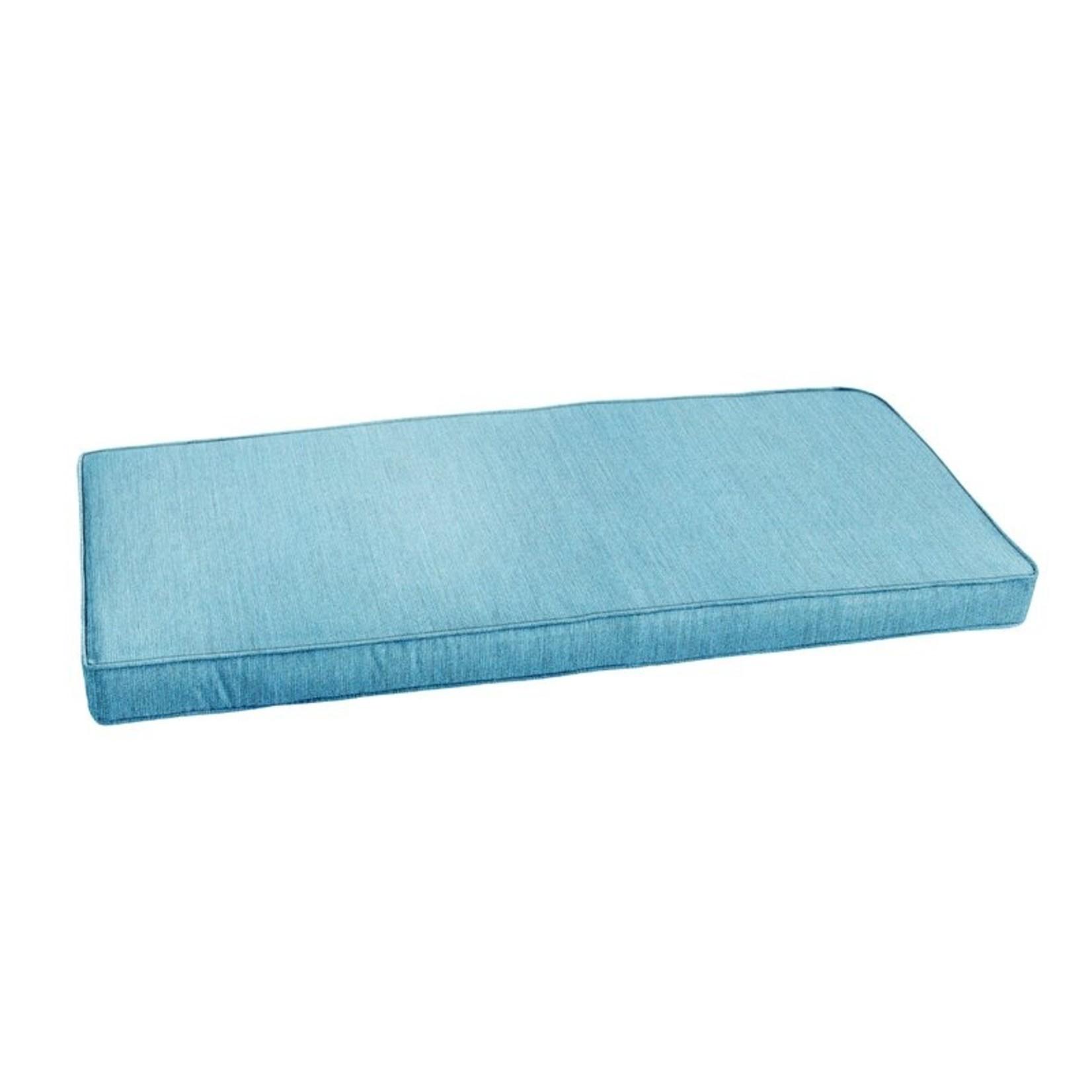 *Horizon Indoor/Outdoor Sunbrella Bench Cushion - Blue