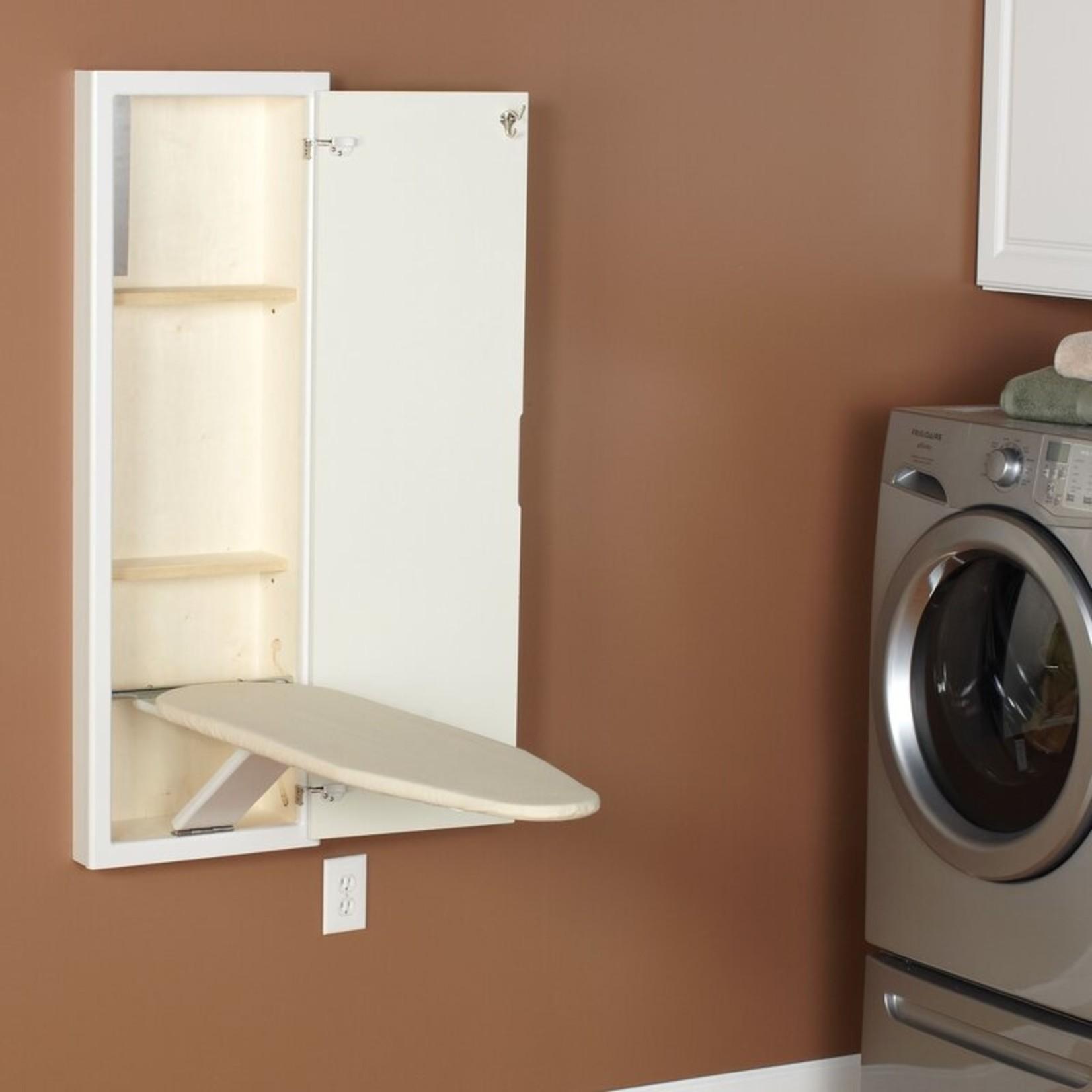 *Stowaway In-Wall Built-in Ironing Board - White