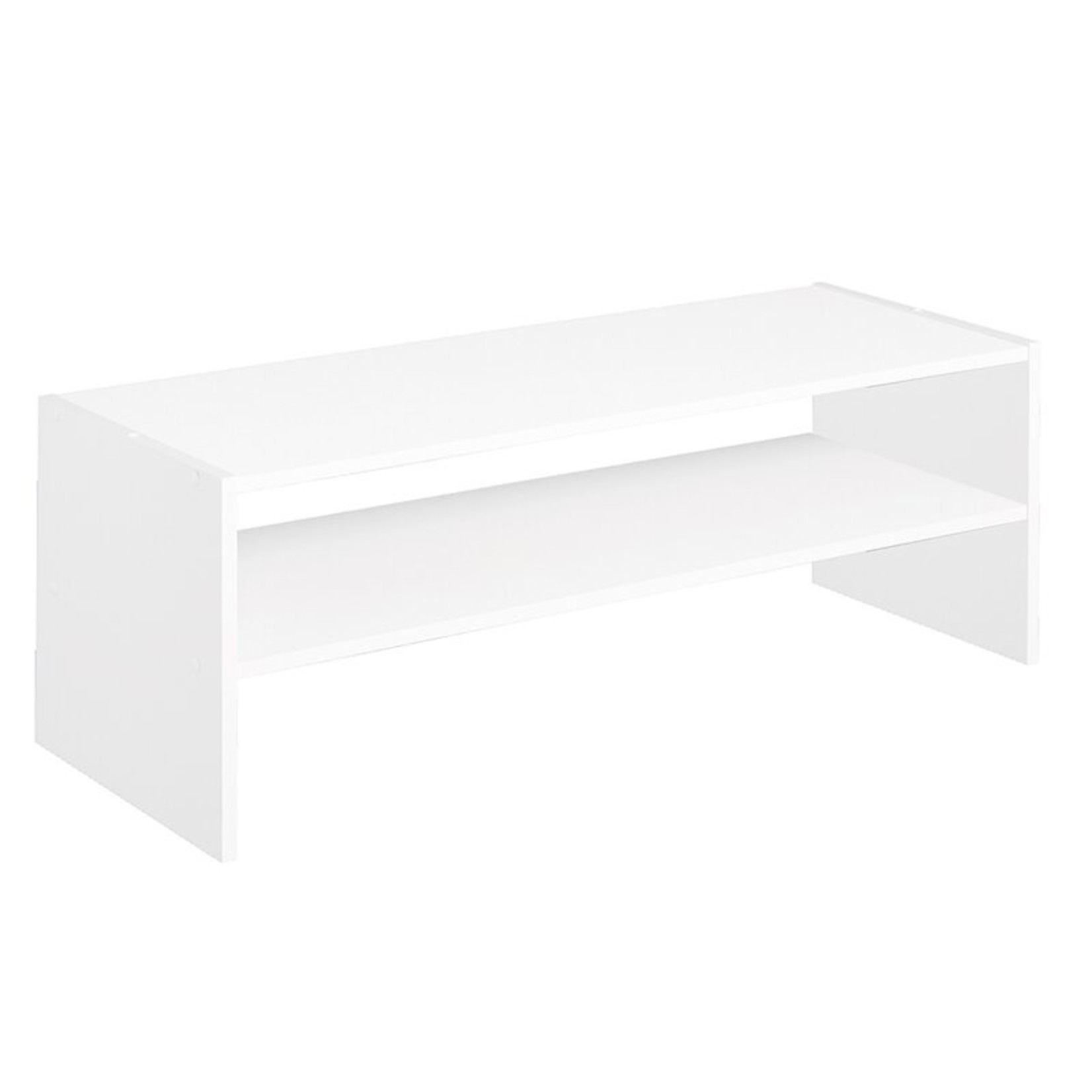 *6 Pair Stackable Shoe Rack - White