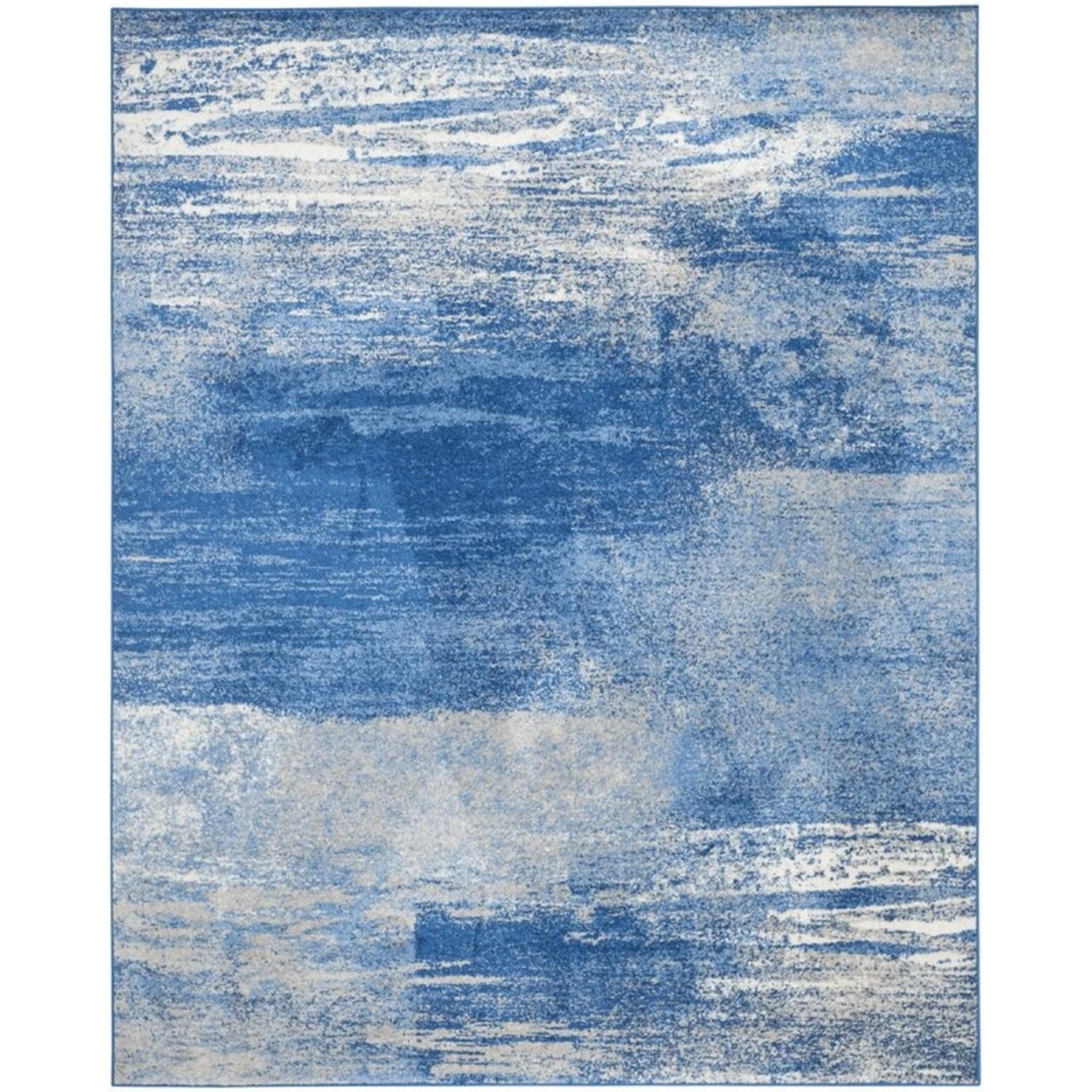 *11' x 15' - Costa Mesa Abstract Silver/Blue Area Rug