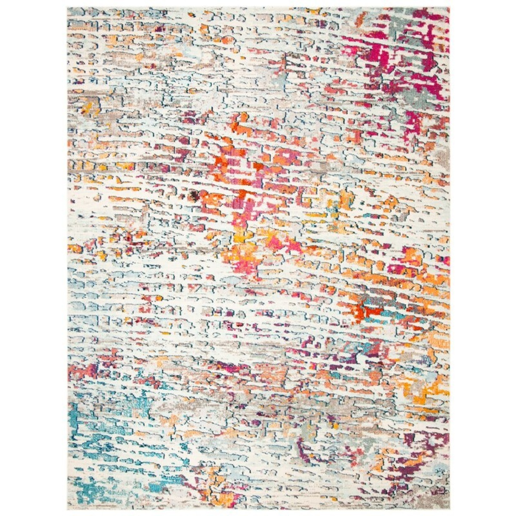 *12' x 15' - Gutierez Abstract Gray/Pink Area Rug