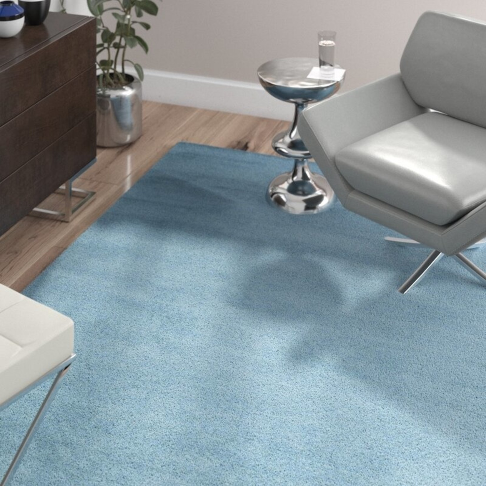 *9' x 12' - Handmade Flatweave Wool Blue Area Rug