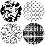 *It's All Black and White Coaster - Set of 4