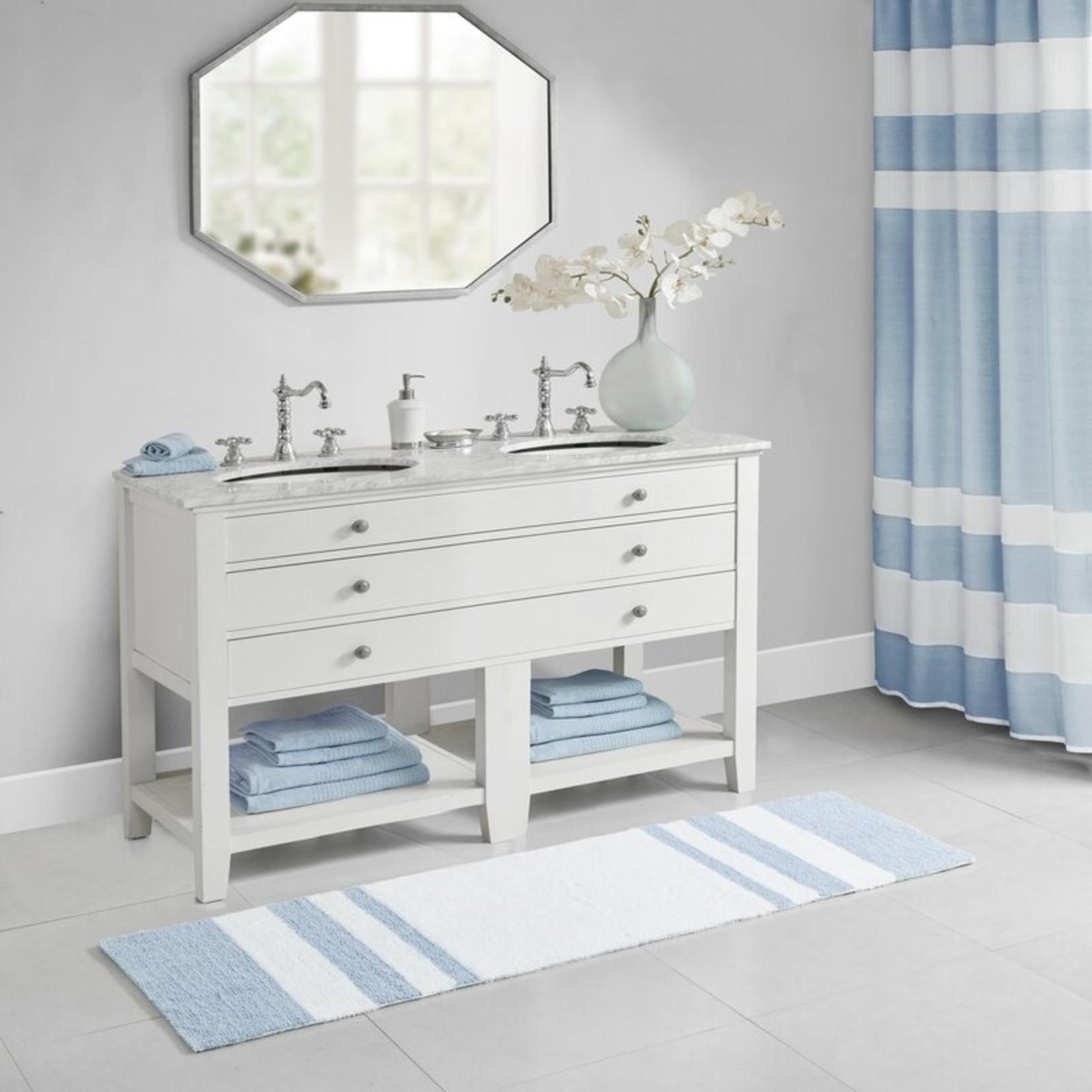 "*24"" x 72"" - Rosenbloom Rectangular 100% Cotton Striped Bath Rug"