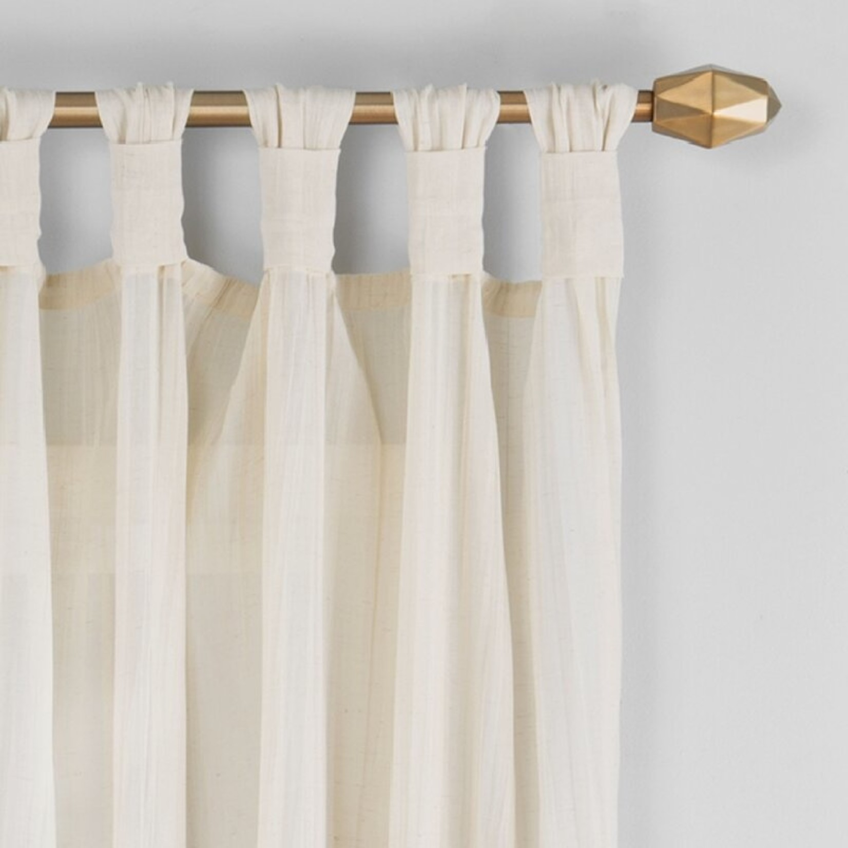 """*50"""" x 84"""" - Liebert Solid Semi-Sheer Tab Top Single Curtain Panel - 1 Panel Only"""
