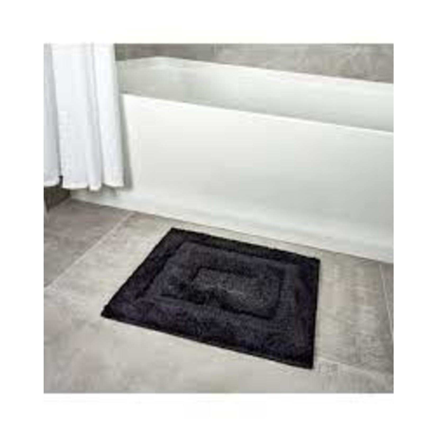 *Jelo Rectangle Non-Slip Bath Rug - Black