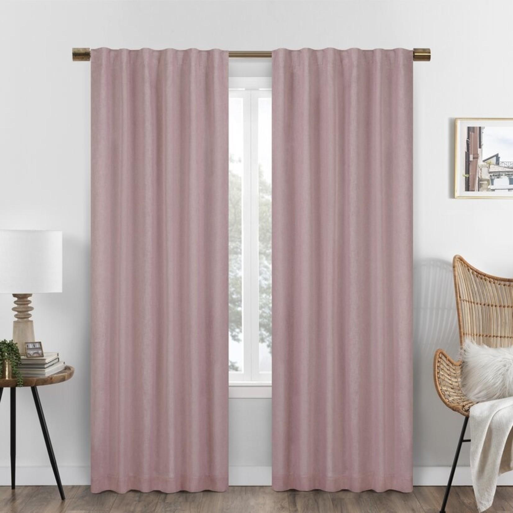 """*50"""" x 84"""" - Billyjo Blackout Rod Pocket  Curtain Panels - Rose - Set of 2"""