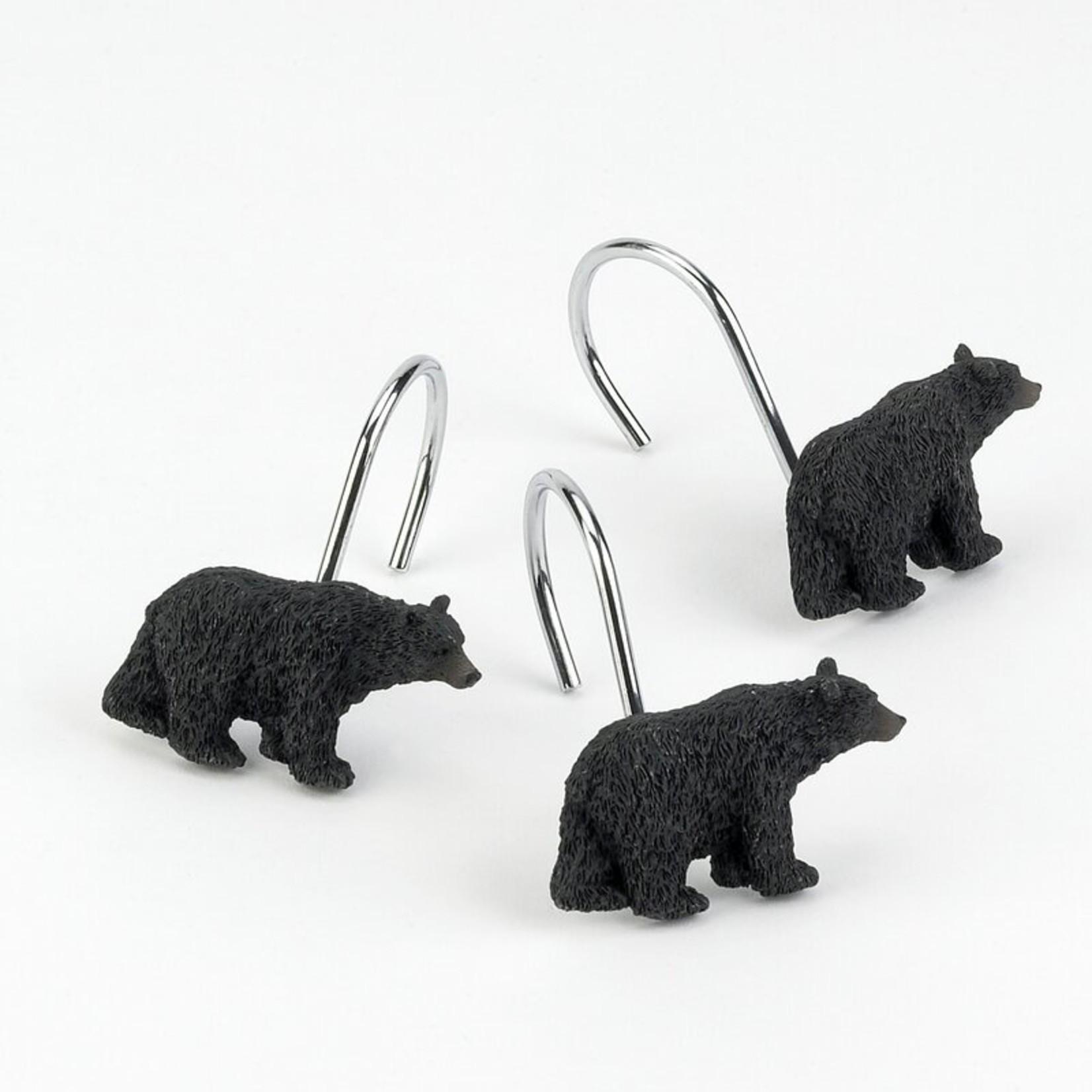 *Black Bear Lodge Shower Curtain Hooks