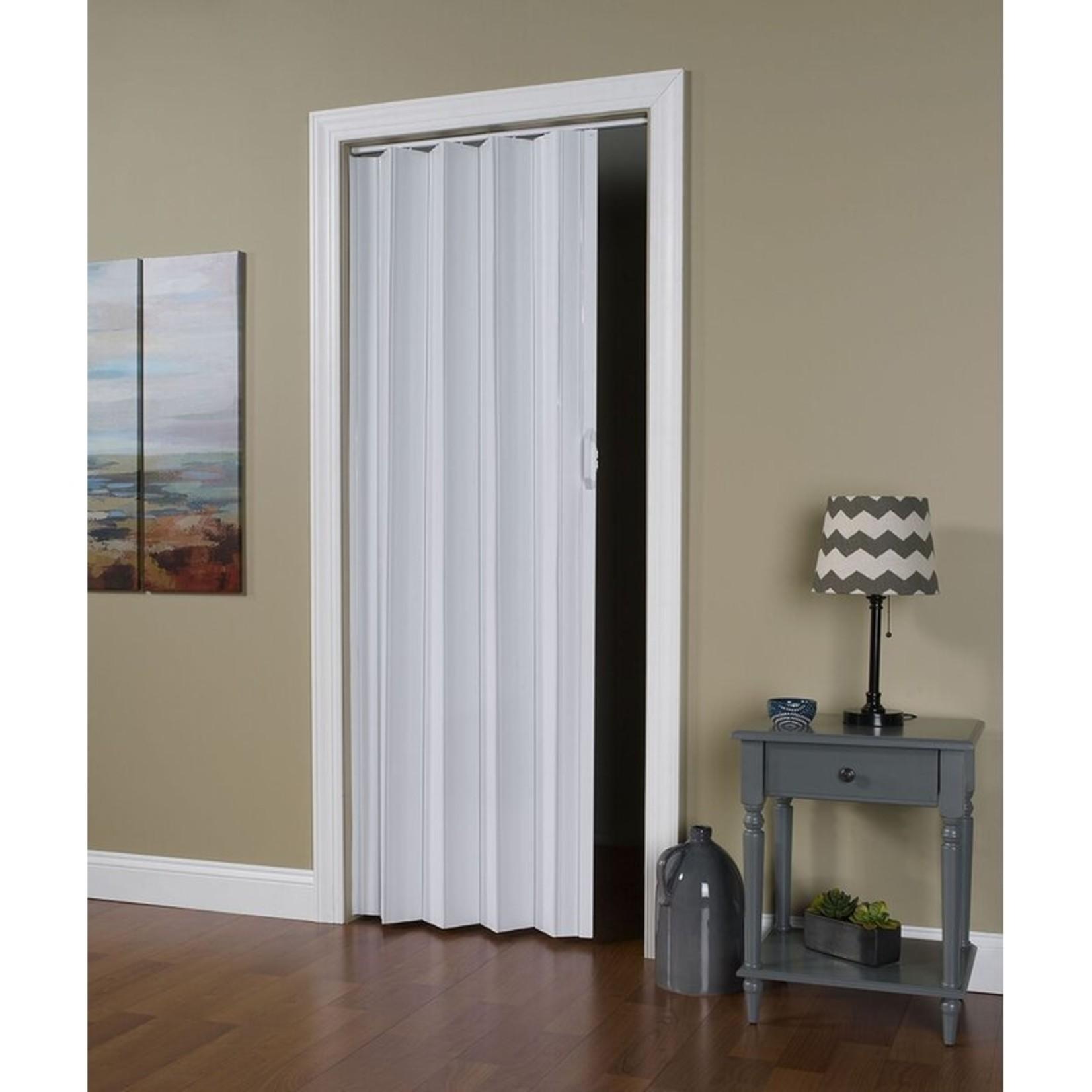 *PVC/Vinyl Homestyle Accordion Door - White
