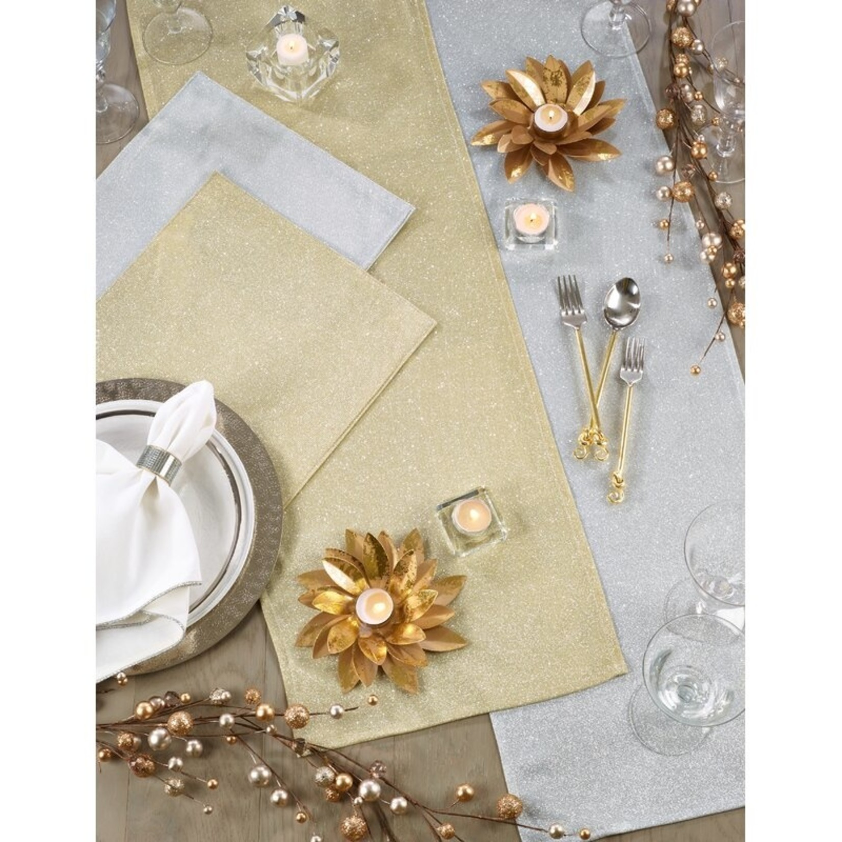 *Melgar Shimmering Table Runner - Gold