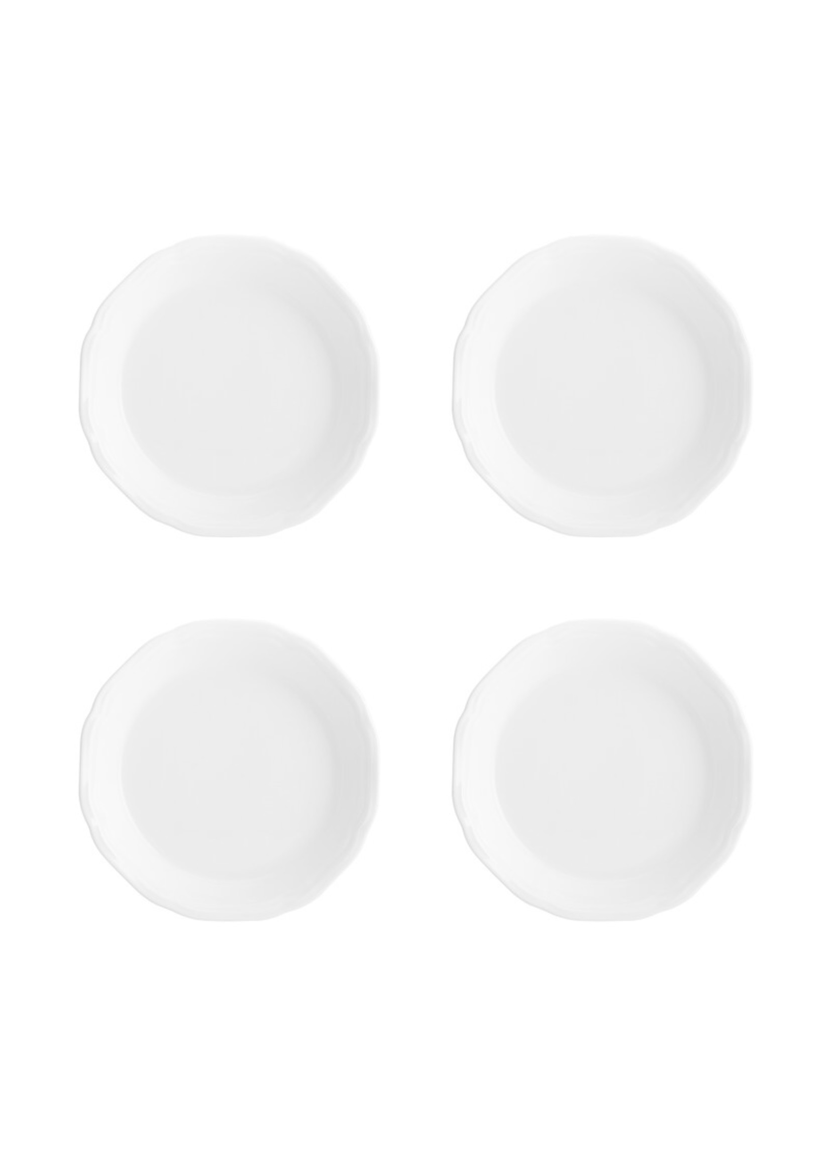 """*Round 4.5"""" Bread and Butter Plate - White - Set of 4"""
