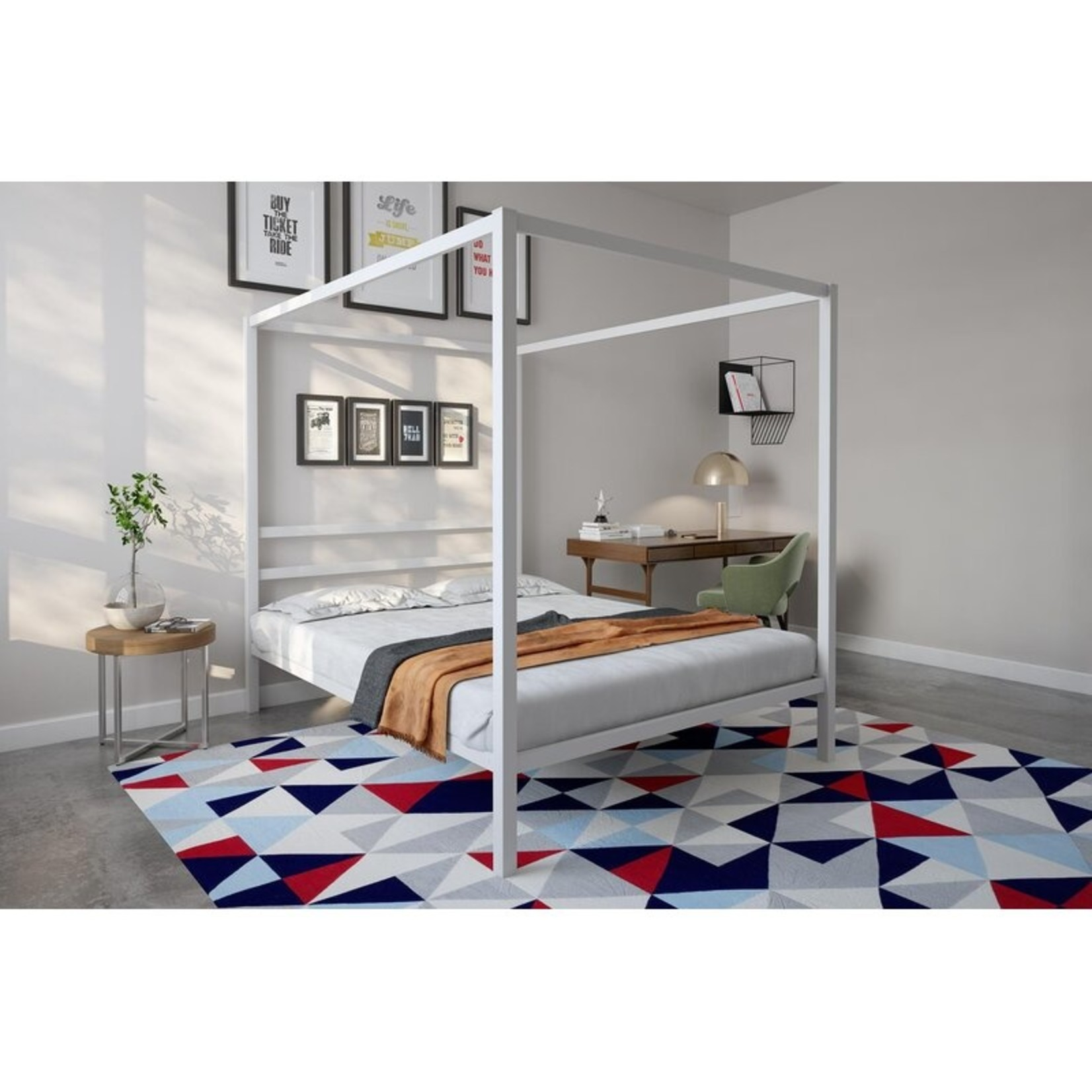 *Queen - Dubay Canopy Bed - White