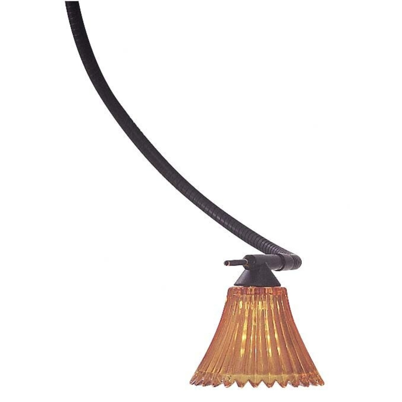 """*3.25"""" Glass Bell Pendant Shade - Amber - Shade Only (Final Sale)"""