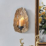 *13.88'' Wall Sconce - Black and Gold
