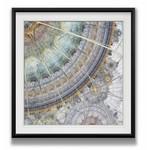 "*Clockworks II' Framed Painting - 24"" x 24"""