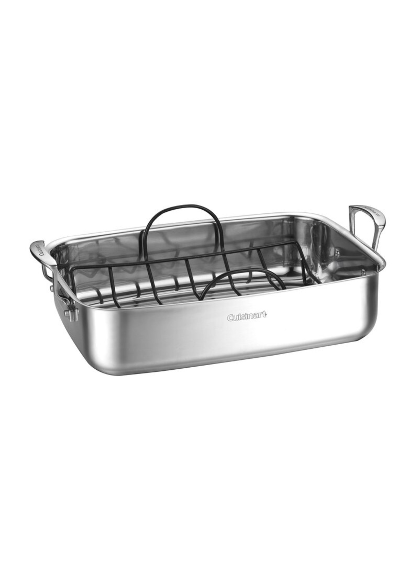 *Cuisinart 15 in. Non-Stick Stainless Steel Roasting Pan