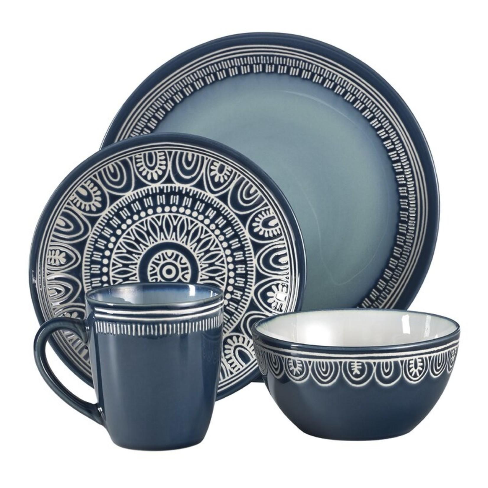 *Jayda 16 Piece Dinnerware Set, Service for 4 - Teal