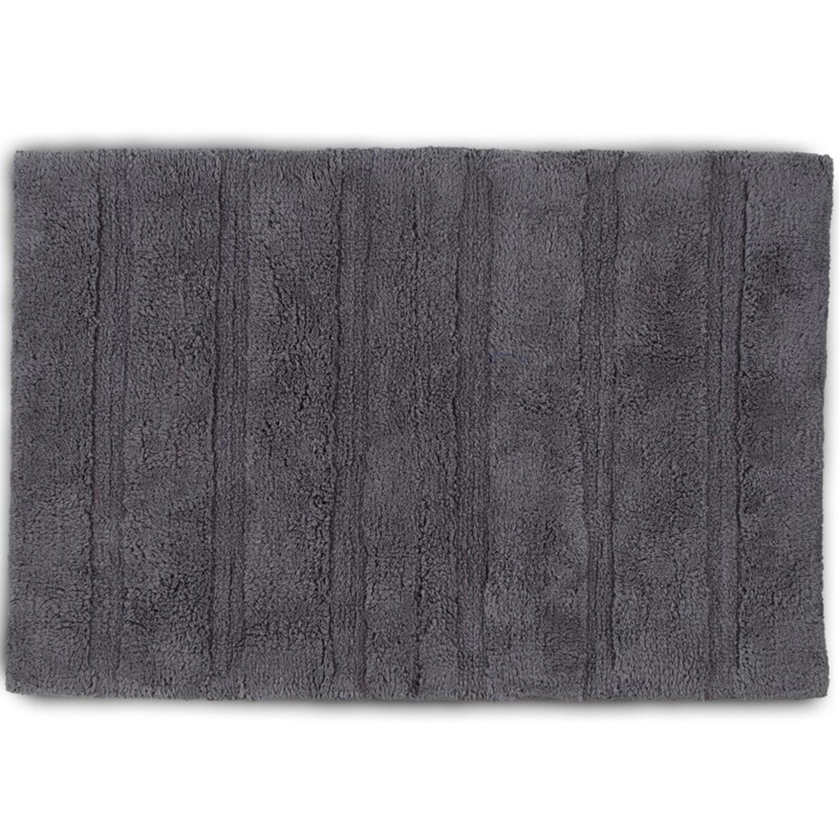 """*17"""" x 24"""" - Abundance 100% Cotton Non-Slip Bath Rug - Boulder Gray"""