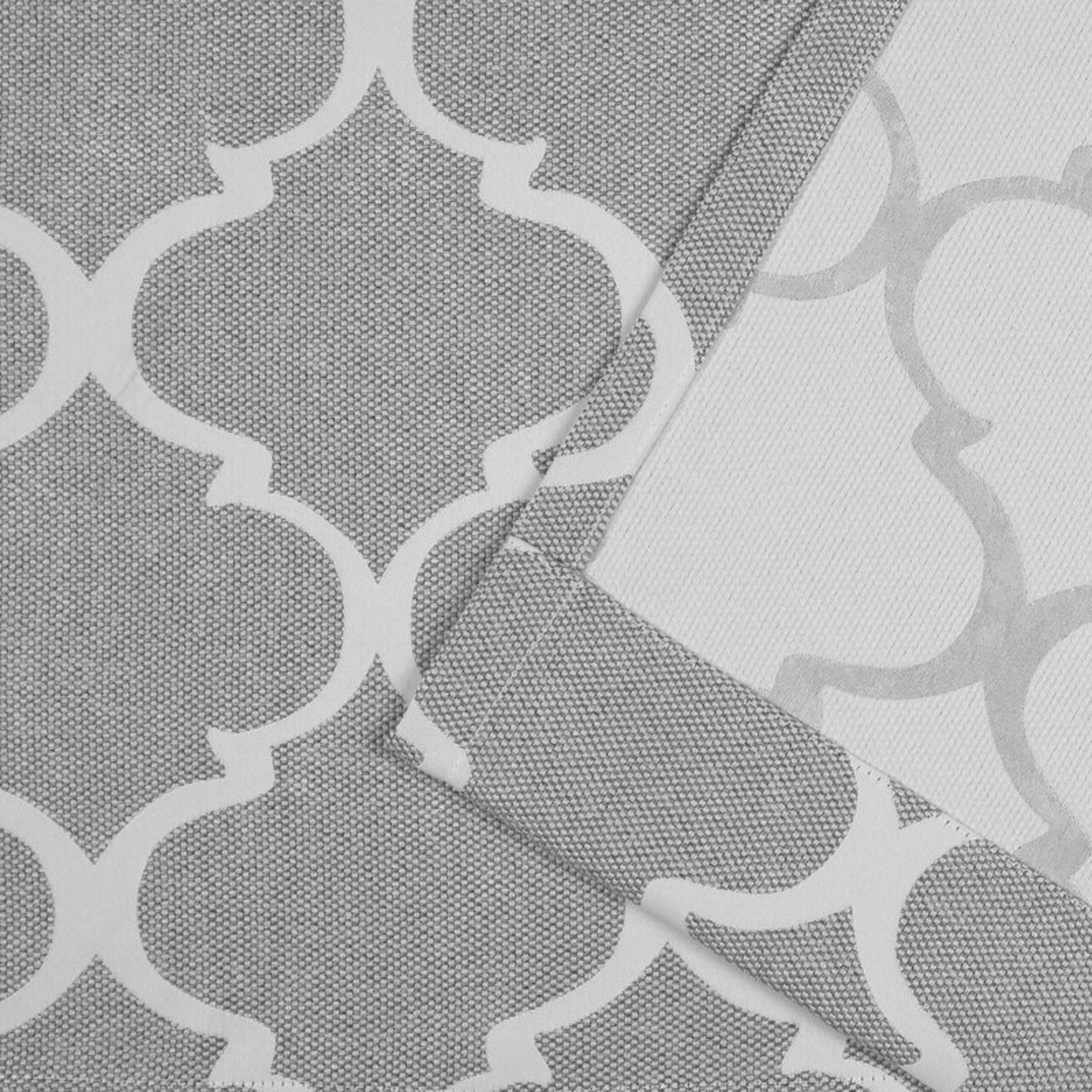 """*52"""" x 84"""" - Nicole Miller Woven Geometric Blackout Thermal Tab Top Curtain Panels - Set of 2"""