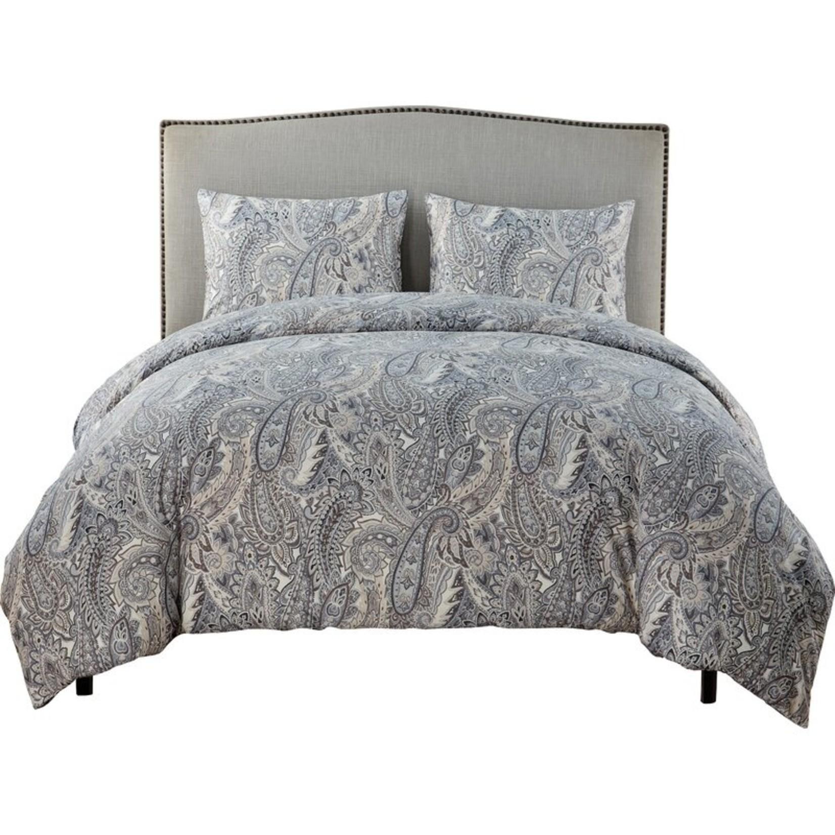 *Full/Queen - Chenley 3 Piece Duvet Cover Set - Gray - Final Sale