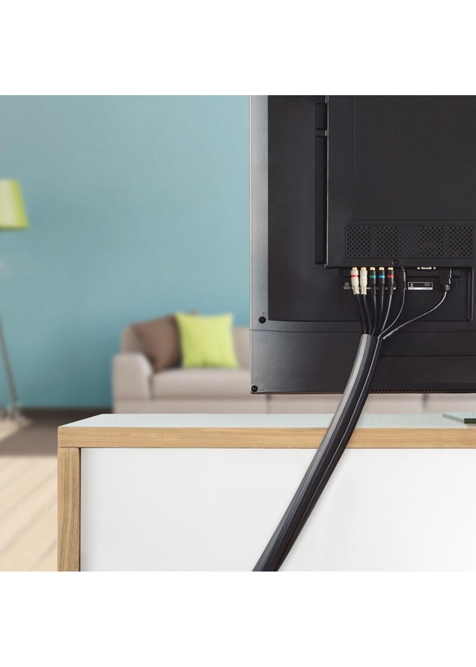 *Cable Management 12 Ft Flexi Cable Wrap - Black