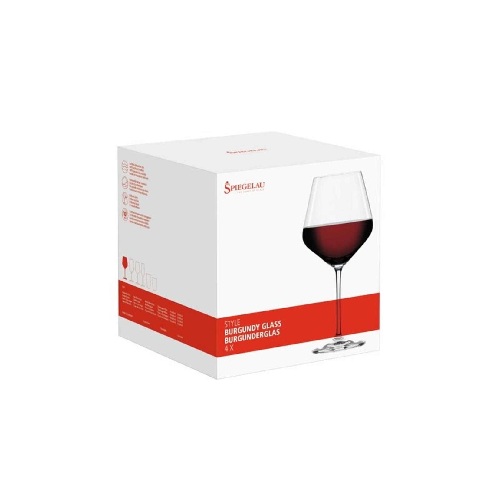 *Pure 23 oz. Crystal Red Wine Glass - Set of 4