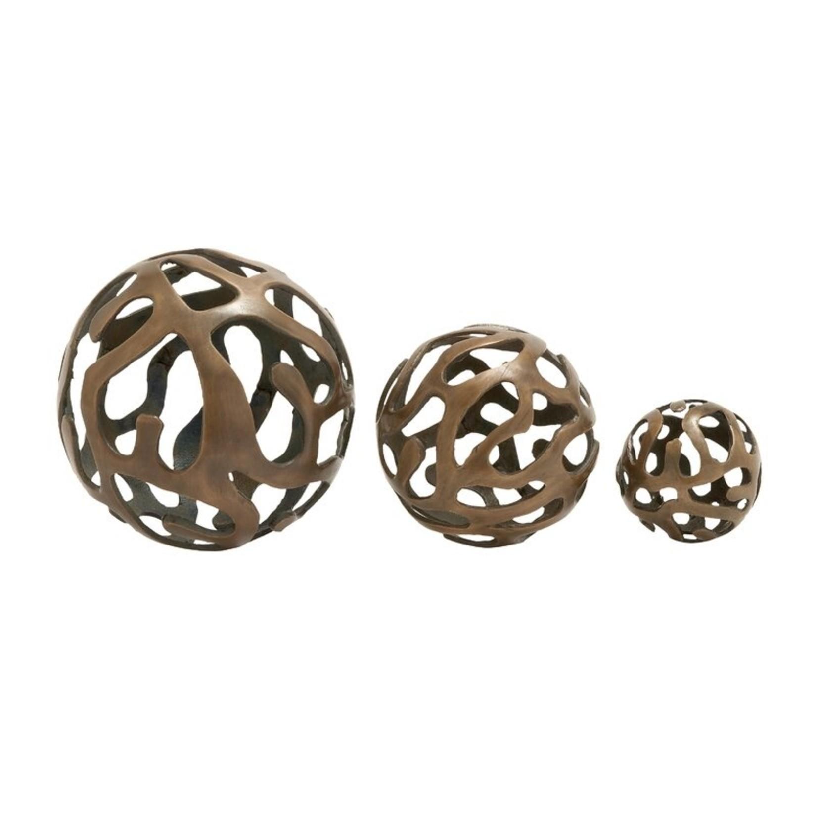 *3 Piece Mchugh Aluminum Decor Ball Figurine Set