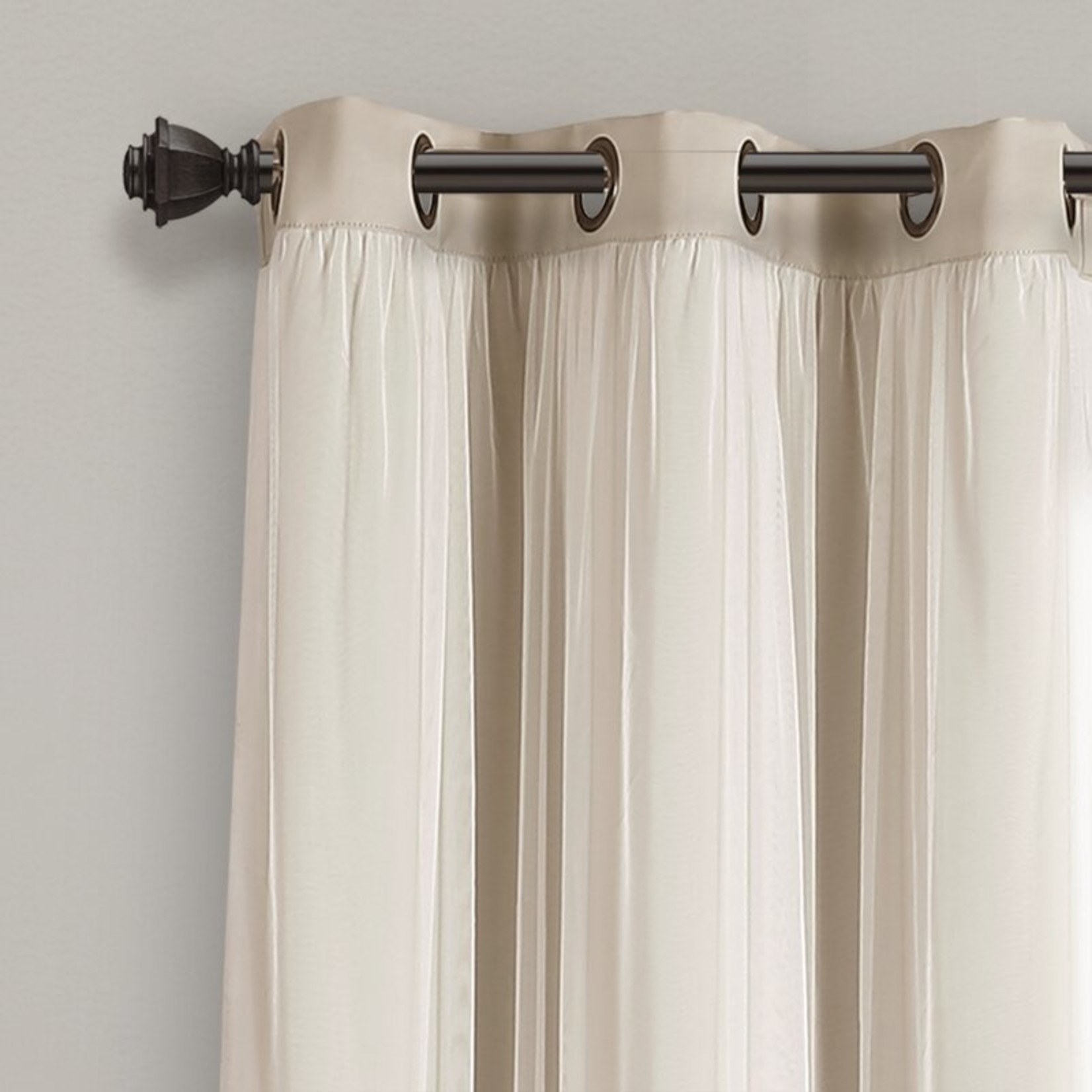 """*38"""" x 120"""" - Busselton Solid Blackout Thermal Curtain Panels - Set of 2"""