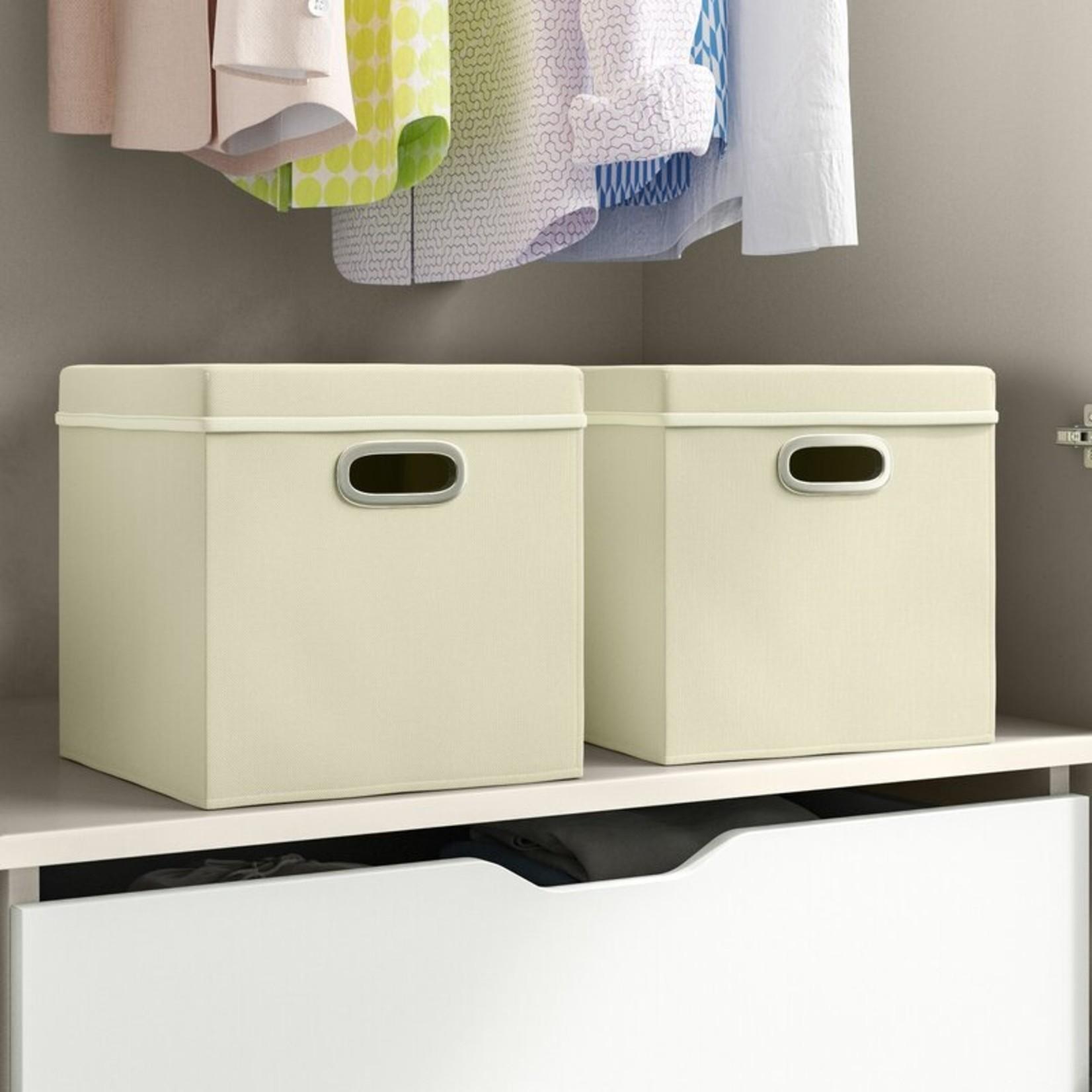 *Wayfair Basics Fabric Box - Natural - Set of 2