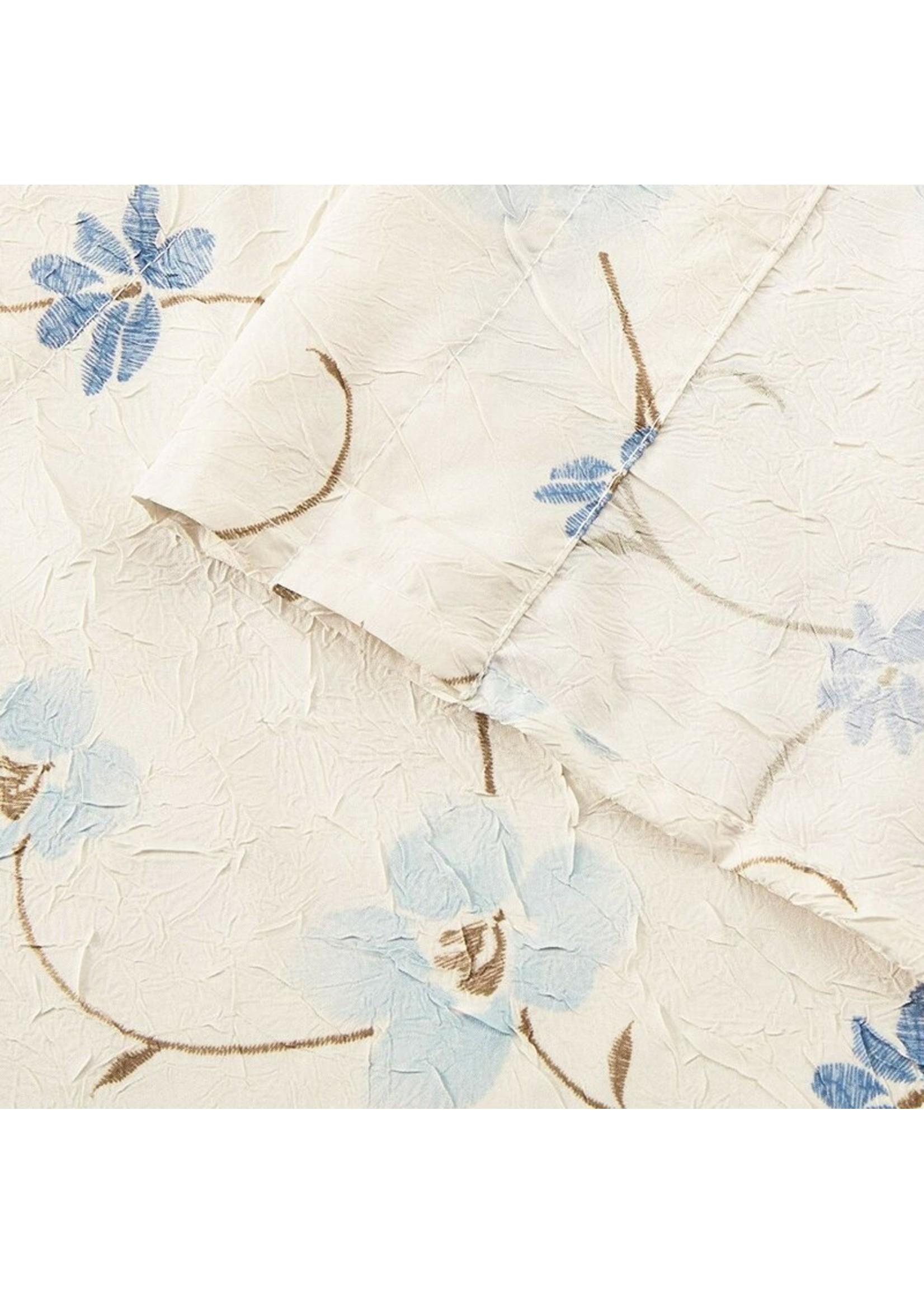 "*Elsberry Crushed Taffeta Open Floral Print 48"" Valance"
