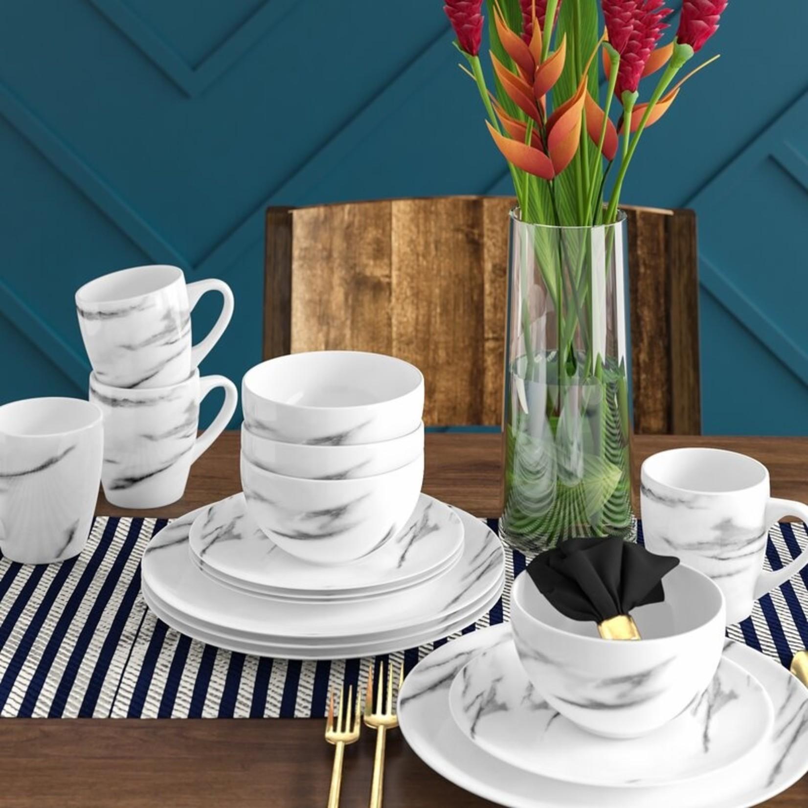 *Witten Marble 16 Piece Dinnerware Set, Service for 4