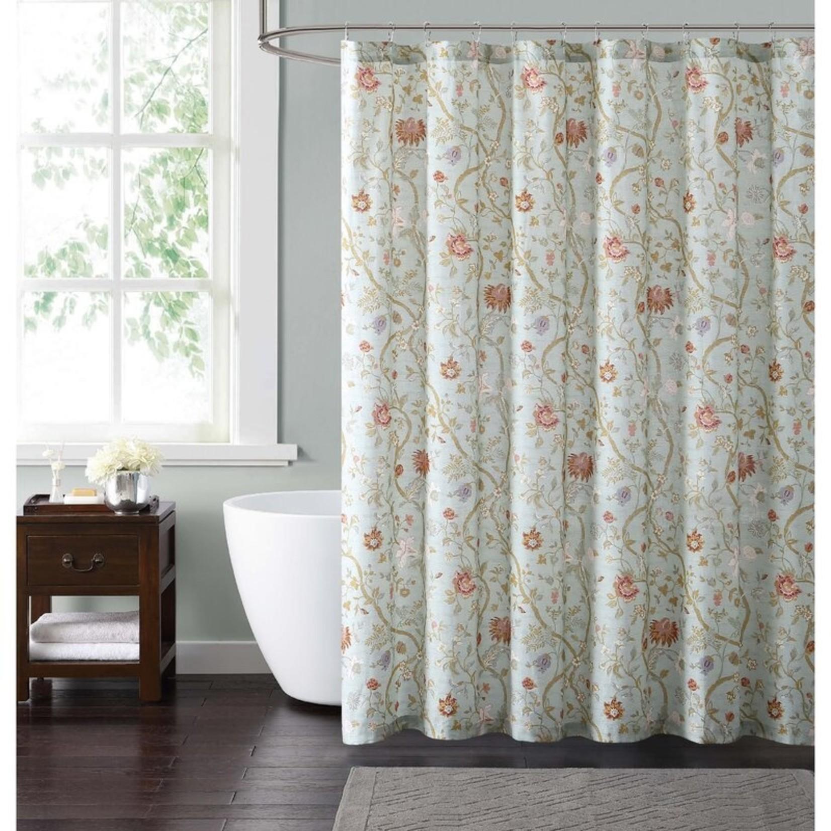 *Upton Cottage Sirgle Shower Curtain - Blue