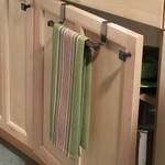"""*9.7"""" Over-the-Door Towel Bar"""